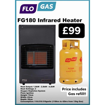 Infrared Heater with Gas Refill